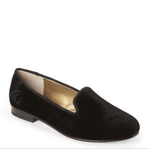 Sam Edelman Hurlie Tuxedo black suede loafers